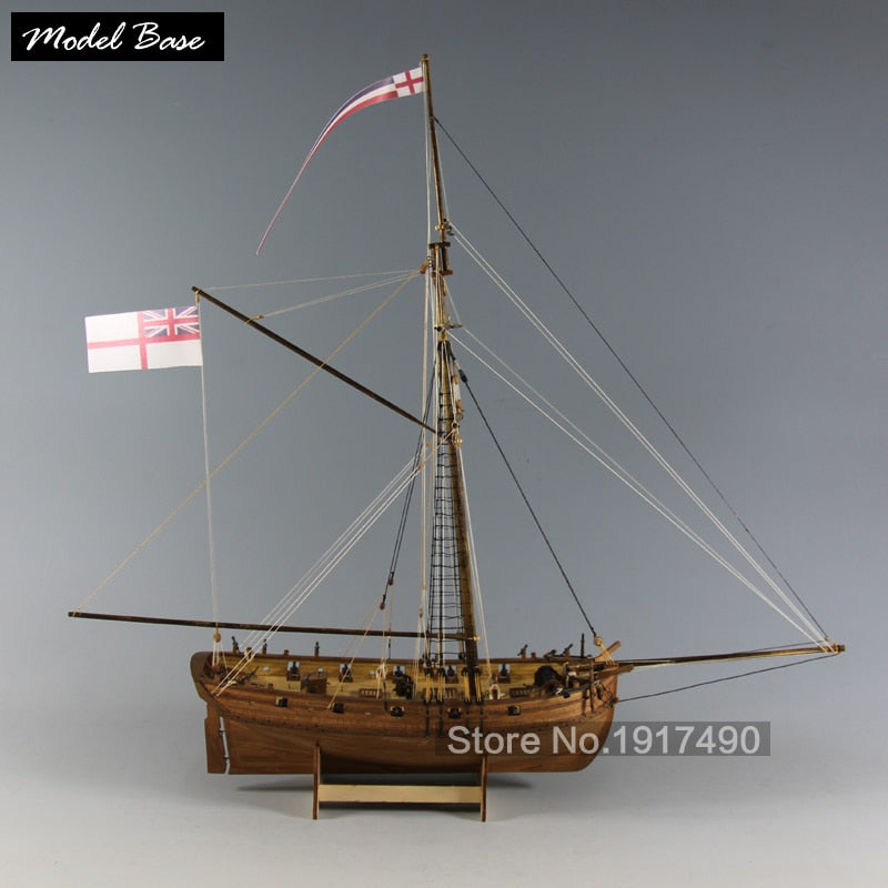 Wooden Ship Model Kits Educational Toy Model Ship Assembly Diytrain Hobby Model Wood Boats 3d Laser Cut Scale 1 64 Lady Nelson