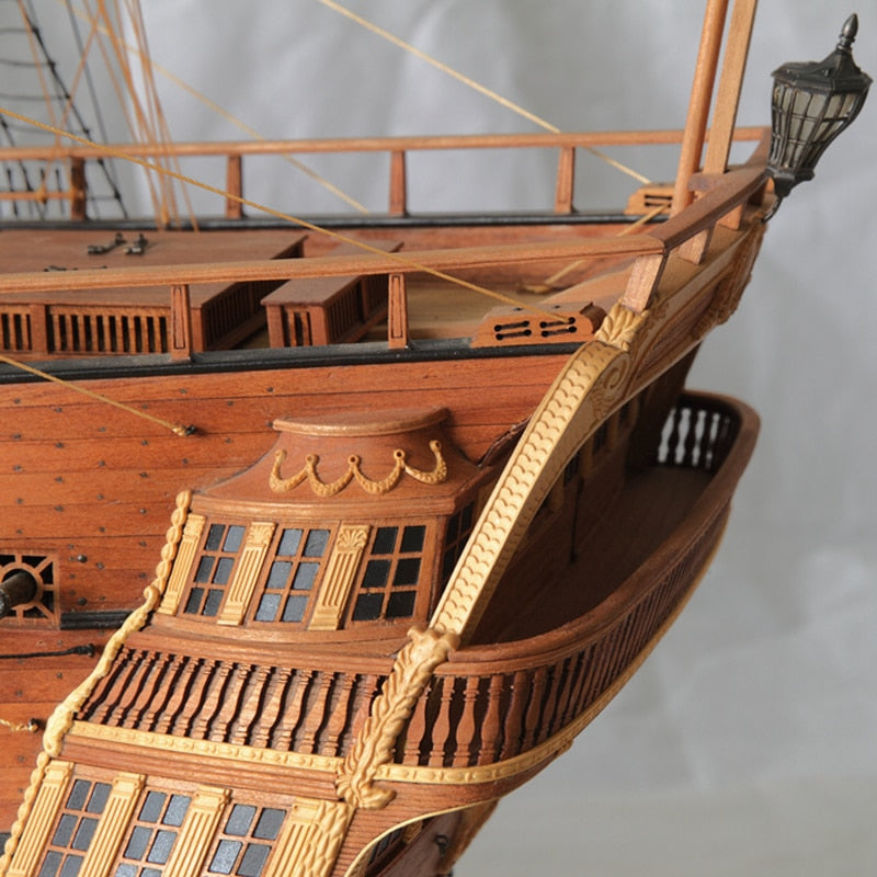 Wooden Ship Models Kits 3d Laser Cut Model Ship Assembly Diy Train Hobby Scale 1 48 Richard Museum Good Level Of Ship Model
