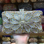 XIYUAN BRAND purple evening bag Luxury crystal Clutch bag gold rhinestone bag party purse Female pochette women wedding wallet