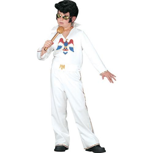 ELVIS CHILD WHT JUMPSUIT SM