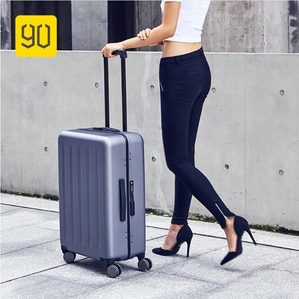 "Xiaomi 90FUN Lightweight Rolling Luggage Aluminum Frame PC Carry On Luggage with Spinner Xiaomi Luggage 20""/24"""