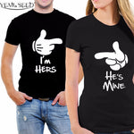 Couple Shirt I'm Hers He is Mine Couple T shirt. 1pc