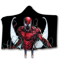YINUODAIL Venom Spiderman Sleeveless Hoodies Casual Coat Movie Superhero Hooded Marvel Cosplay Blanket Unisex Winter Hoodie