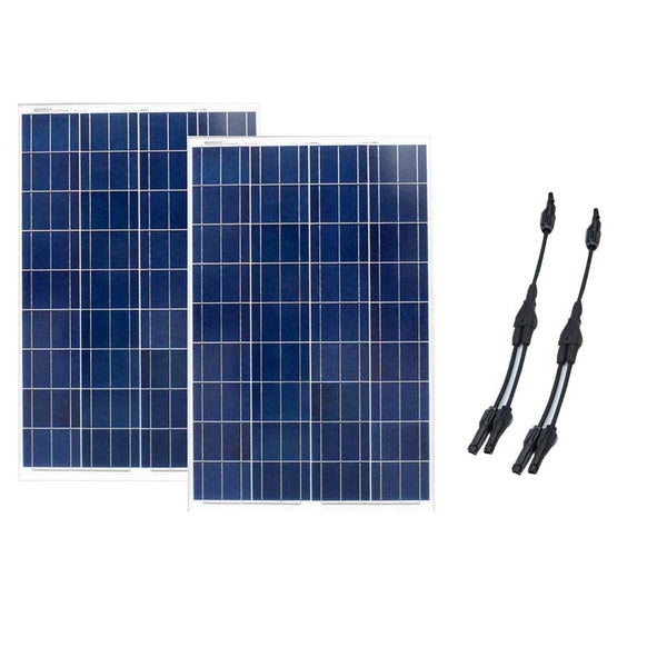 Zonnepaneel 12 volt 100 watt 2 PCs Solar Kit Home 200w Yacht Shower Rv Solar Lighting System Marine Boat Yacht Caravan Car