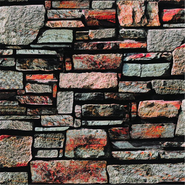 beibehang 3D Stereo Simulation Stone Wallpaper Vintage Bricks Brick Living Room Background Wall Shop Bar KTV Wallpaper