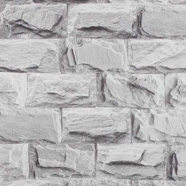 beibehang Chinese Culture Stone Vinyl Thickening white brick wallpaper for wall TV background 3D wall paper roll Papel de parede