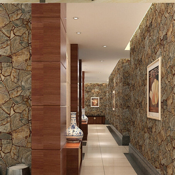 beibehang Vinyl Imitation Stone Brick Grain papel de parede 3d Wallpaper Wall Decor For Living Room Bathroom Wallcovering