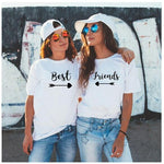 Best friends T-Shirt Couple Shirt BFF Bestie Tee Best Friend  Matching Tops Bestie Gift Best Sister.1 pc