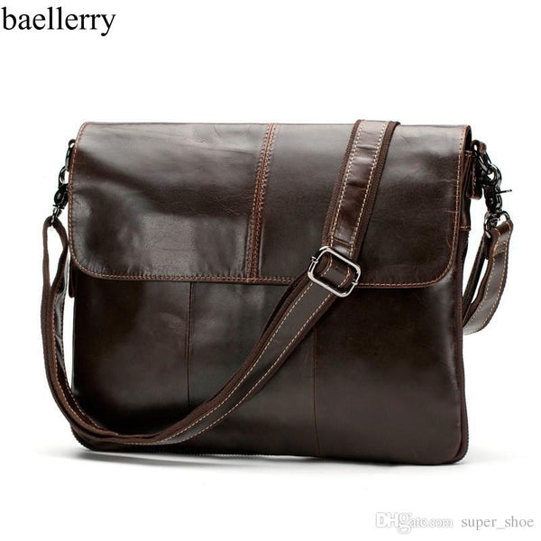 European Genuine Leather Men Bag Men Briefcases male Leather business Computer Laptop Bags Crossbody Bags Mens Messenger Bag #21047