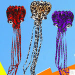 free shipping high quality 4m large soft octopus kite with handle line outdoor toys flying kite factory nylon ripstop family fun