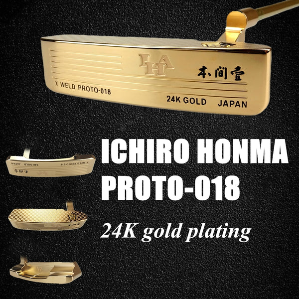 genuine article Complete Sets golf clubs 24K Gold-plated Putters/Drivers/Fairway/Hybirds/Irons A set 13 piece with UP Ball Bag