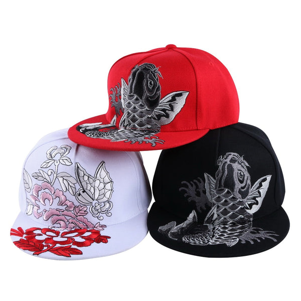 Tridimensional Embroidery Floral Butterfly Design woman luxury baseball caps