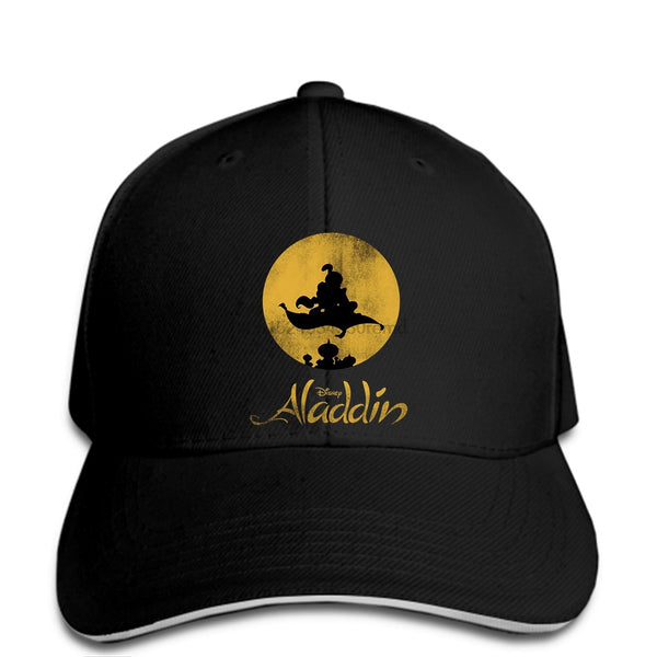 hip hop Baseball caps Funny Men hat Women novelty Aladdin Magic Carpet Silhouette Graphic cap