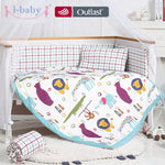 i-baby Baby Bedding Set 9pcs Crib Set Newborn Fun Animals Cotton Printed Cot Sheet Duvet Pillow Quilt Set in Crib Boy Girl
