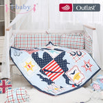 i-baby Baby Bedding Set 9pcs Crib Set Newborn Joyful Cowboy Cotton Printed Cot Sheet Duvet Pillow Quilt Sets in Crib Boy