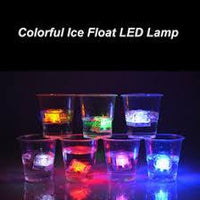 4 LED LIGHTS POLY CHROME FLASH ICE LIQUID SENSOR GLOWING ICE CUBE SUBMERSIBLE LIGHTS DECOR LIGHT UP BAR CLUB WEDDING PARTY