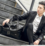 Men's Briefcases laptop 14 inch leather Work bags mens shoulder Crossbody Bags #25160
