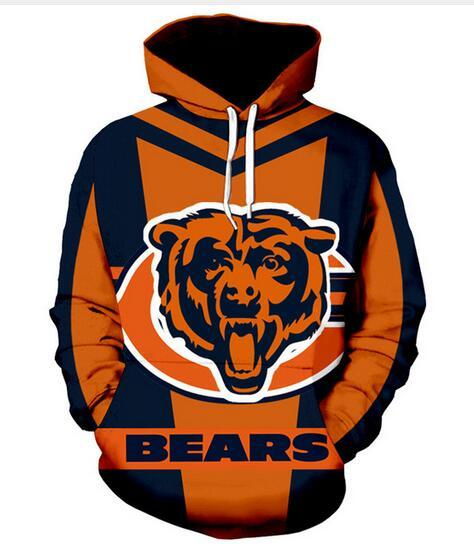 e84ac4819 New Fashion Women/Men's Harajuku Style Chicago Bears Casual 3d Printed  Crewneck Sweatshirts Hoodies Unisex