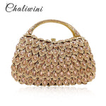 new style Multicolor Women red Clutch Tassel Crystal Bags With Handle Diamonds Finger Ring Wedding Handbags Purse bolso paja