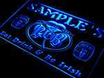 pa-tm Name Personalized Custom Irish Pub Shamrock Bar Beer Neon Sign with On/Off Switch 7 Colors 4 Sizes