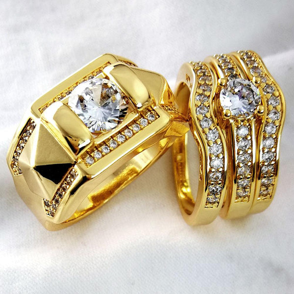 Prong setting zircon Men women ring wedding Domineering Couple Party ring men size 8 to 15, women size 5 to 10 R245, R179