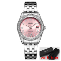 Diamond Analog Display Stainless Steel Quartz
