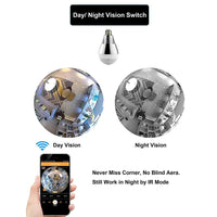 HOME SECURITY CAMERA Built-in Wifi IP Camera Bulb Light 360 Degree