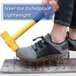 Indestructible Mesh Sneakers Men's Safety Lightweight Work Shoes Steel Toe Boots. Superman Shoes