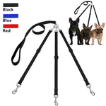 Three Way Dog Leash Triple Pet Leads No Tangle With Adjustable Detachable Dog Coupler for One,Two,Three Samll Medium Large Dog