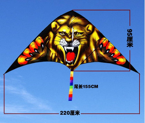 tiger children 3d animal flying Single line kite vlieger cerf volant kites for adults windsock pipas brinquedo ar livre atacado