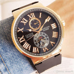 Top brand ULYSSE watch 44mm mechanical automatic wristwatch Famous luxury men watches Athens Relogio clock UN watche