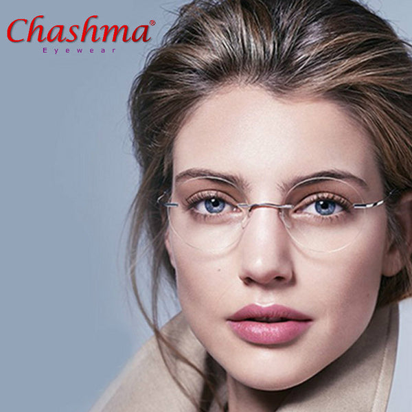 ultra-light women titanium rimless Reading Glasses alloy Rimless reading eyeglasses Presbyopic glasses +1.00to +3.5
