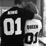 Couple Shirts 2019 Summer Queen or King short-sleeved thin lovers t-shirt ( each shirt )
