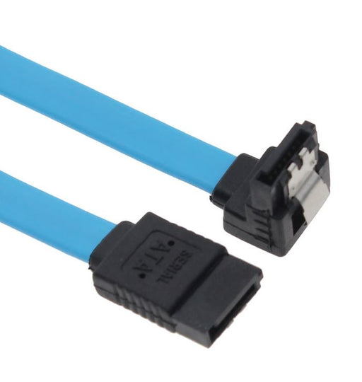 Astrotek SATA 3.0 Data Cable 50cm M-M 180-90 Degree with Metal Lock Blue