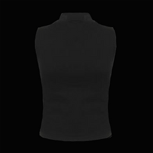 Load image into Gallery viewer, SPRUIKA Black Choker-neck Vest