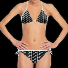 Load image into Gallery viewer, SPRUIKA black-on-white 'ZipTrak' Bikini