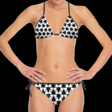 Load image into Gallery viewer, SPRUIKA black-on-white 'ZipTrak' check Bikini