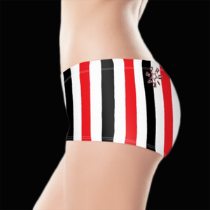 SPRUIKA red, white, black 'Candy' Lycra Hotpants