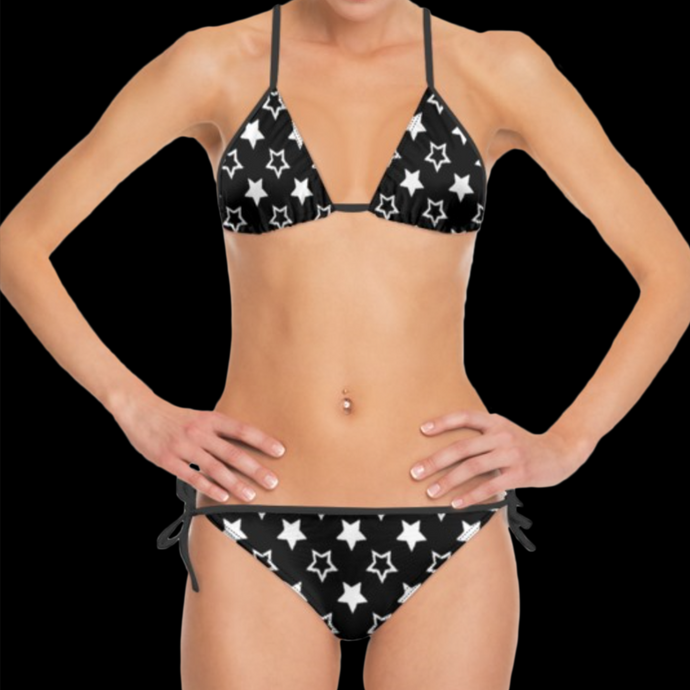 SPRUIKA white-on-black 'Universe' Bikini