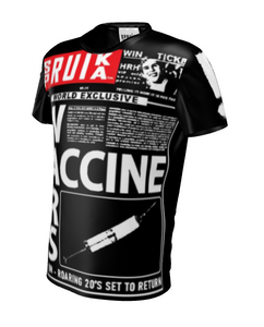 SPRUIKA TABLOID - Vaccine Wars - 1 Only NFT Front Page 23 March 2021 in Liquid Glow Stretch Fabric