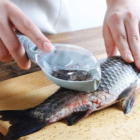 Fish Scale Scraper With Lid Kitchen Gadgets