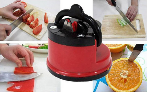 Household kitchen tool suction cup positioning  round knife sharpener simple and fast