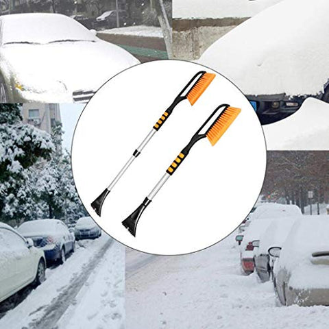 2-in-1 multi-function snow scraper