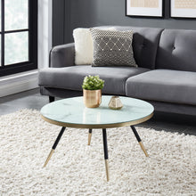 Load image into Gallery viewer, White Marble Print Cordelia Coffee Table | accent piece for living room