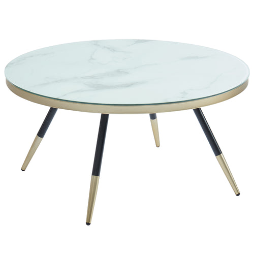 White Marble Print Cordelia Coffee Table
