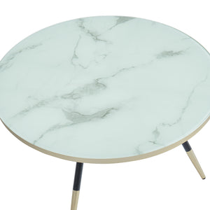 White Marble Print Cordelia Coffee Table | accent piece for living room