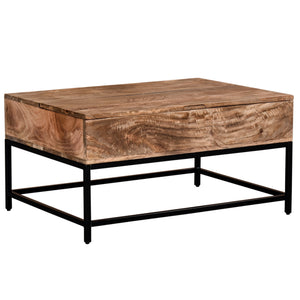 Natural Burnt Lift-Top Coffee Table Best Home Accents