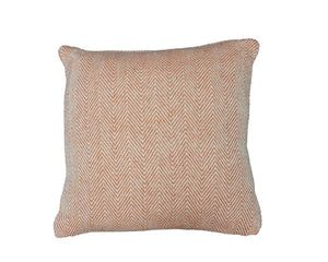 Peach Herringbone Stripe Cushion