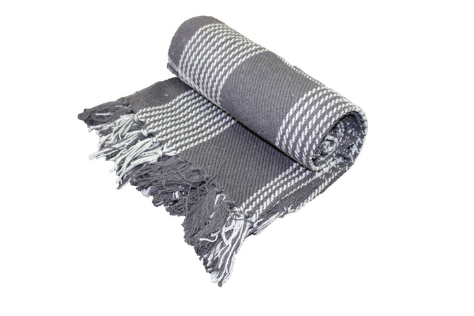 Charcoal Plaid Throw