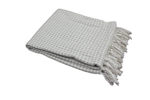 Taupe Houndstooth Throw